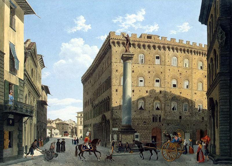 Garibbo, Luigi - Piazza Santa Trinita in Florence. Hermitage ~ part 03