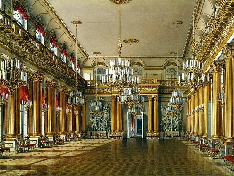Hau Edward Petrovich - Types of rooms of the Winter Palace. Armorial Hall. Hermitage ~ part 03