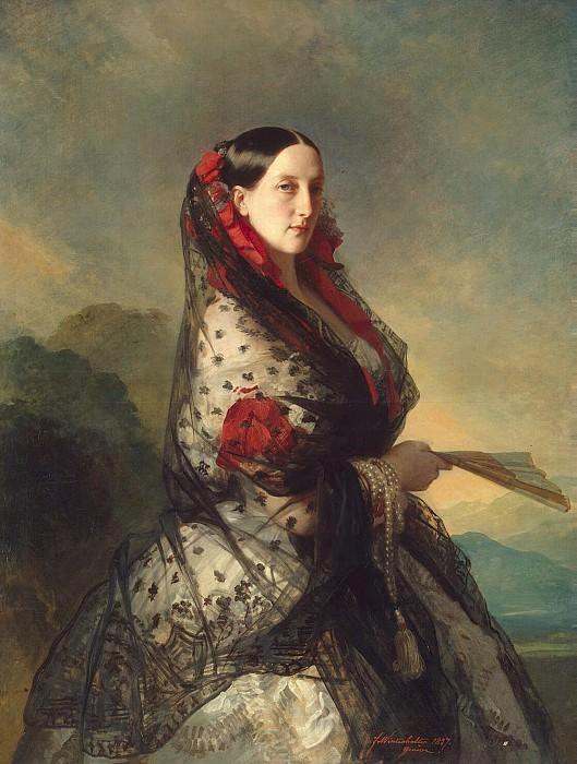 Winterhalter, Francois Xavier - Portrait of Grand Duchess Maria Nikolaevna. Hermitage ~ part 03