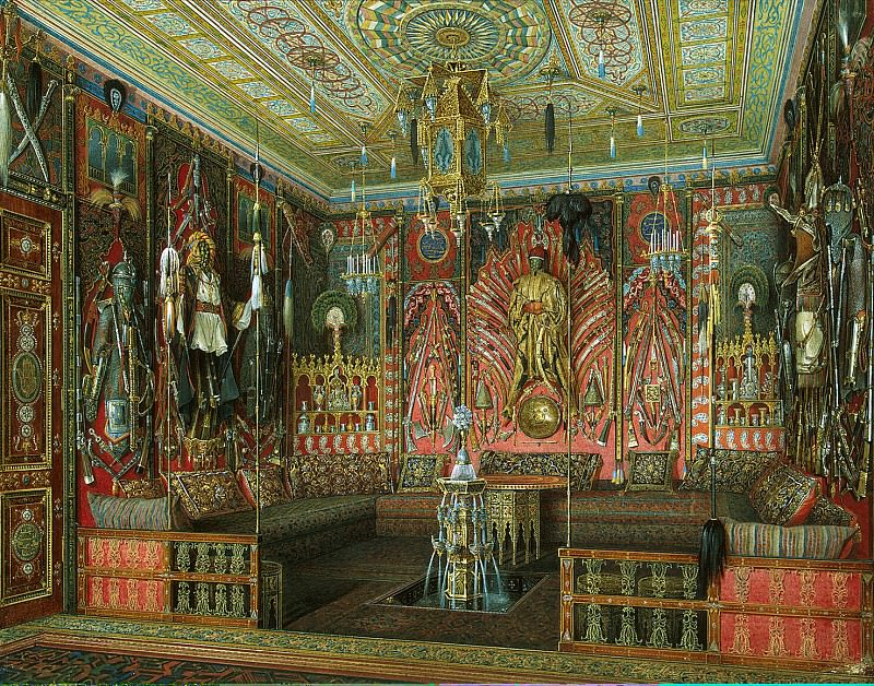 Hau Edward Petrovich - Turkish room in the Catherine Palace of Tsarskoe Selo. Hermitage ~ part 03