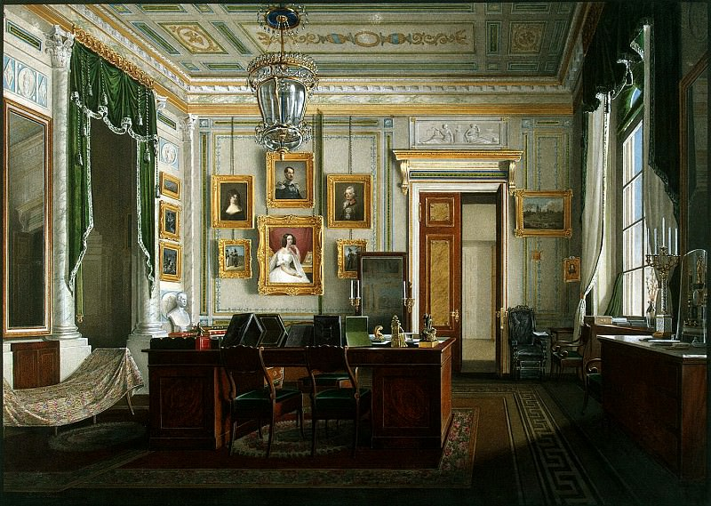 Hau Edward Petrovich - Types of rooms of the Winter Palace. Cabinet of Emperor Alexander II. Hermitage ~ part 03
