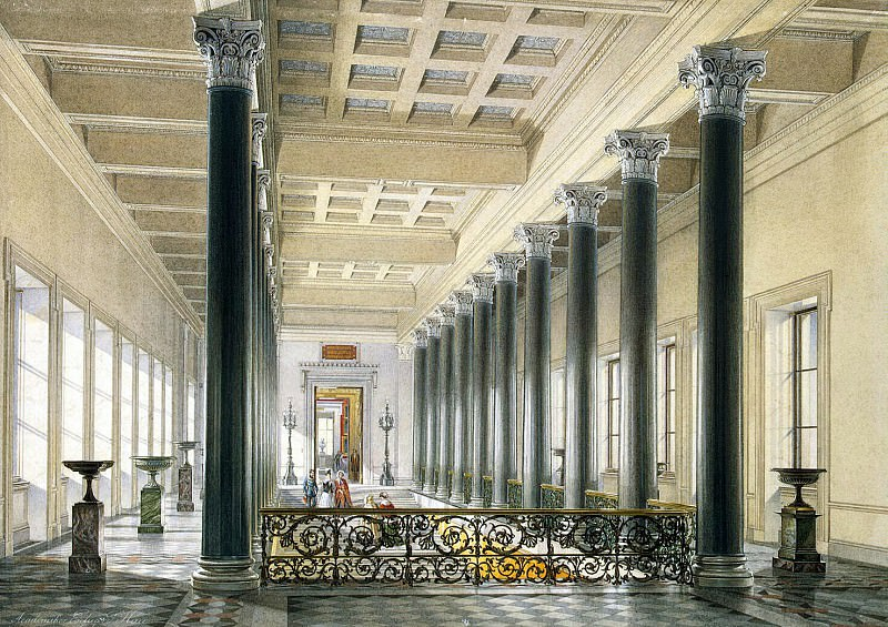 Hau Edward Petrovich - Types halls of the New Hermitage. Stair-head. Hermitage ~ part 03