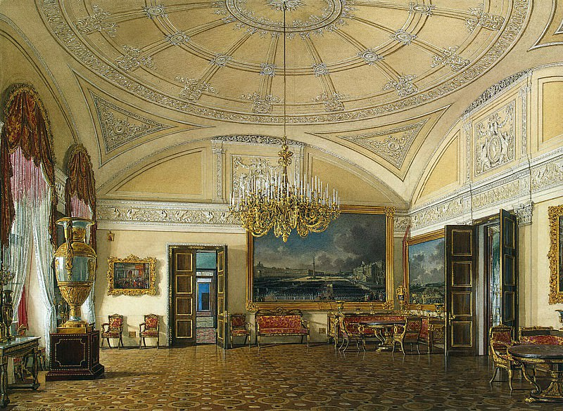 Hau Edward Petrovich - Types of rooms of the Winter Palace. The first half of the spare. Grand Salon. Hermitage ~ part 03