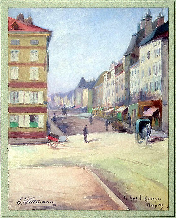 Wittmann, E. - View of the Rue Saint-Georges in Nancy. Hermitage ~ part 03