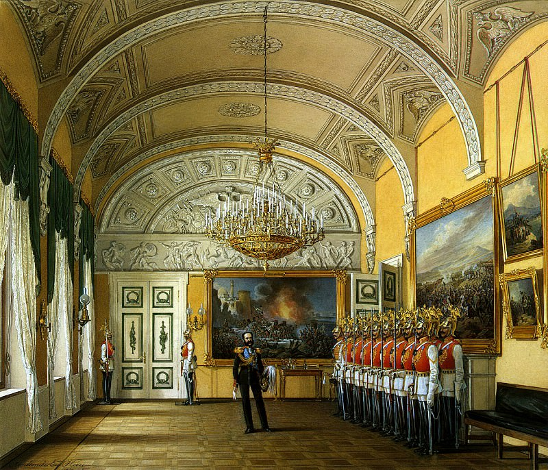 Hau Edward Petrovich - Types of rooms of the Winter Palace. Hall of divorce Guard. Hermitage ~ part 03