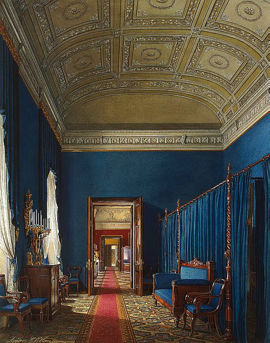 Hau Edward Petrovich - Types of rooms of the Winter Palace. The first half of the spare. Dressing Duke M. Leuchtenberg. Hermitage ~ part 03