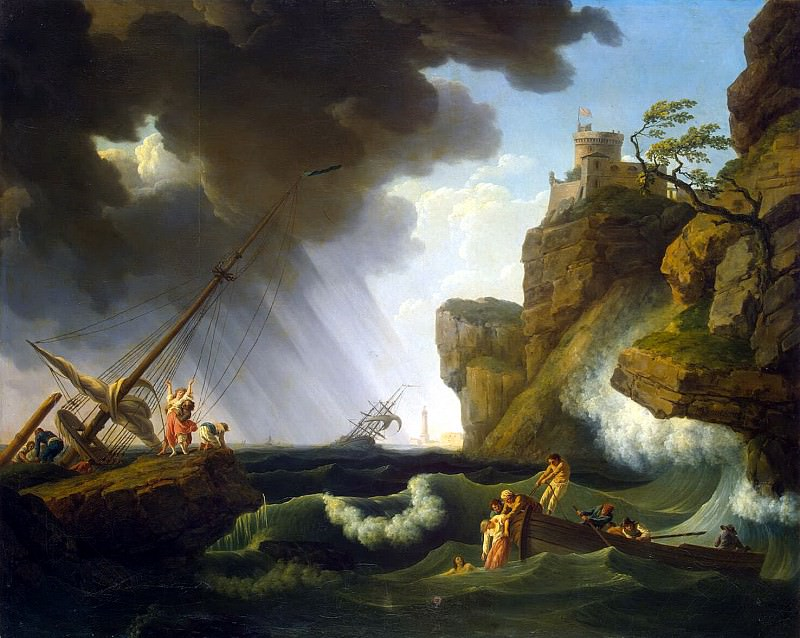 Vernet, Claude Joseph - Shipwreck. Hermitage ~ part 03