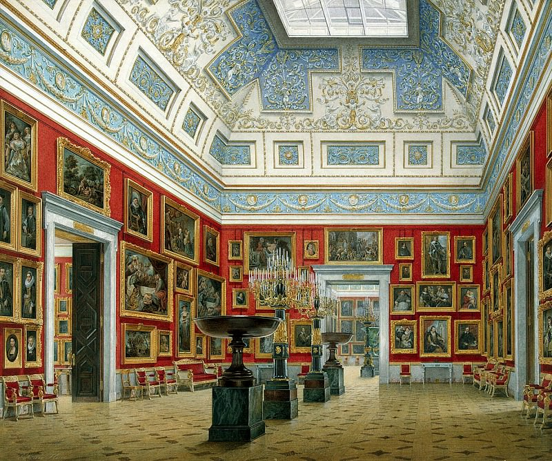 Hau Edward Petrovich - Types halls of the New Hermitage. Hall Flemish school. Hermitage ~ part 03