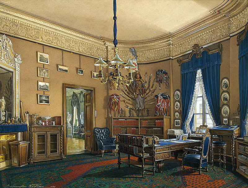 Hau Edward Petrovich - Types halls of the Small Hermitage. Cabinet Crown Prince Nikolai Alexandrovich. Hermitage ~ part 03