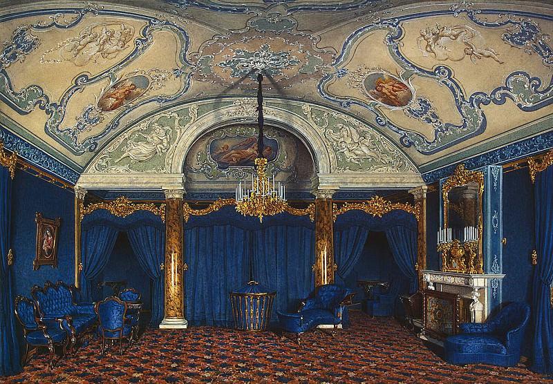 Гау, Эдуард Петрович - Виды залов Зимнего дворца. Четвертая запасная половина. Спальня. Эрмитаж ~ часть 3