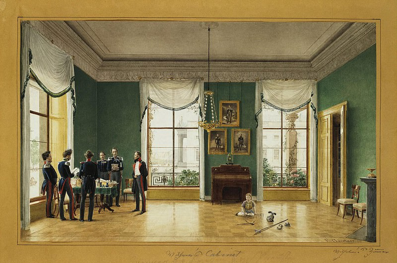 Gaertner, Johann Philipp Edward - Office of Prince Wilhelm in Sans-Souci. Hermitage ~ part 03