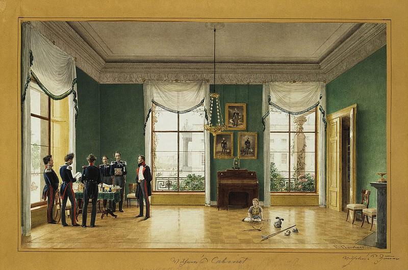Gaertner, Johann Philipp Edward - Office of Prince Wilhelm in Sans-Souci. Hermitage ~ part 03