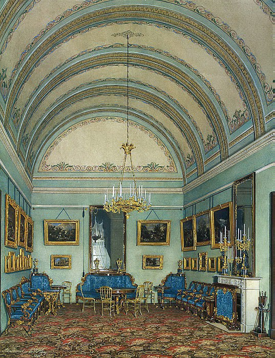 Hau Edward Petrovich - Types of rooms of the Winter Palace. The first half of the spare. Salon Duke M. Leuchtenberg. Hermitage ~ part 03