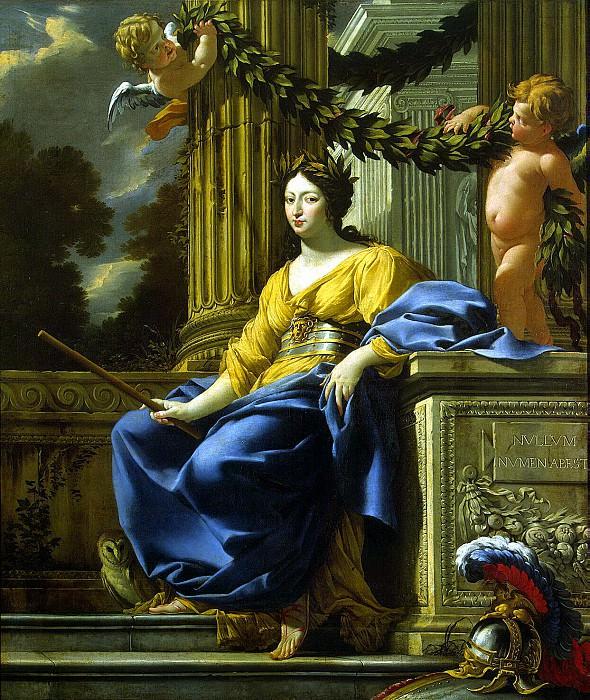 Vouet, Simon - Allegorical portrait of Anne of Austria. Hermitage ~ part 03