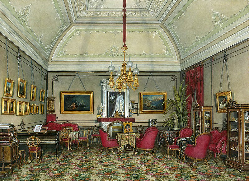 Hau Edward Petrovich - Types of rooms of the Winter Palace. Fifth spare half. Seating led. Princess Maria Alexandrovna. Hermitage ~ part 03