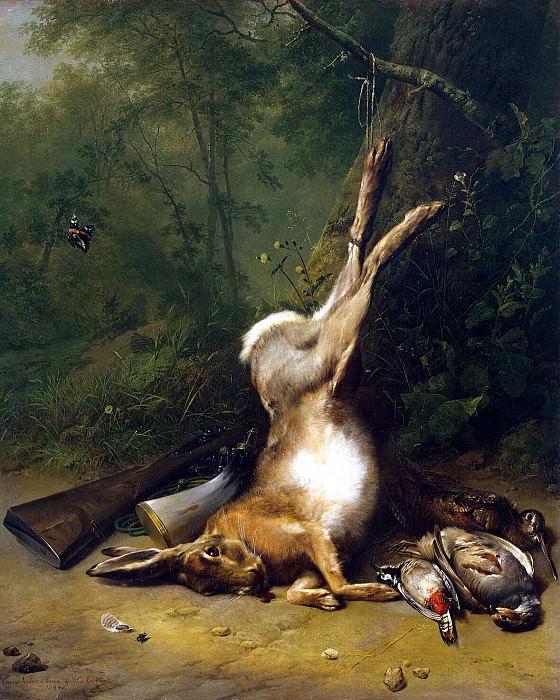 Verbukhoven Eugène Joseph Kukkuk, Barend Cornelis - Still Life with a rabbit. Hermitage ~ part 03