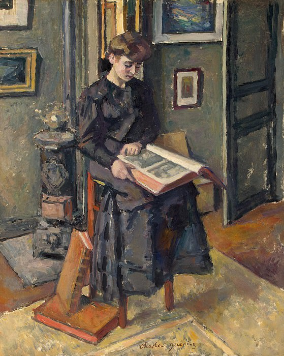 Guerin, Charles - Girl with book. Hermitage ~ part 03