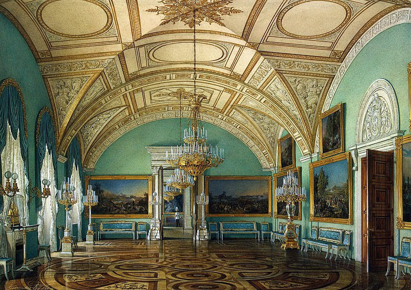 Hau Edward Petrovich - Types of rooms of the Winter Palace. Third Meeting of the Military Gallery. Hermitage ~ part 03