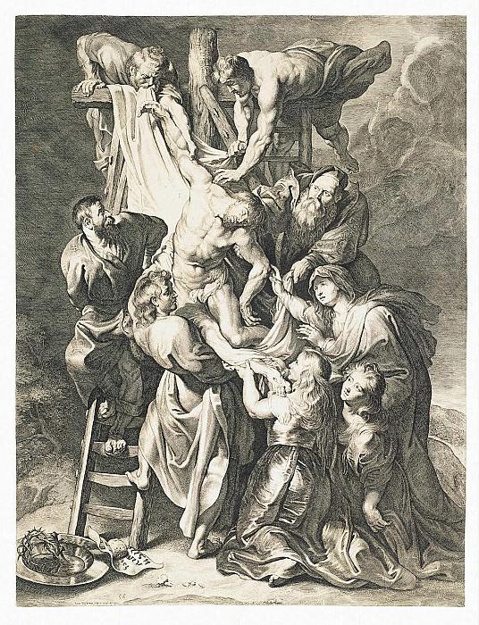 Vorsterman, Lucas van - Descent from the Cross. Hermitage ~ part 03