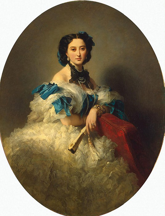 Winterhalter, Francois Xavier - Portrait of Countess Varvara Musina-Pushkina Alexeyevna. Hermitage ~ part 03