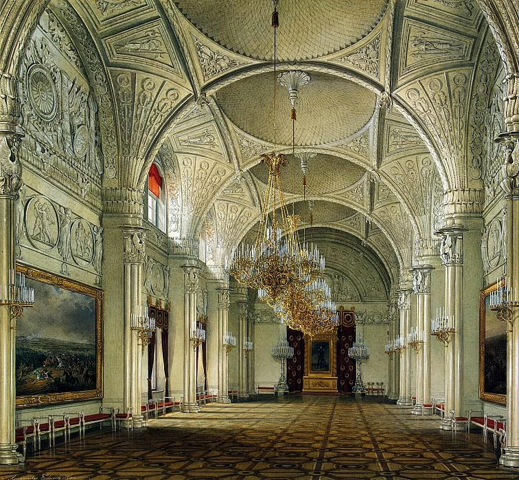 Hau Edward Petrovich - Types of rooms of the Winter Palace. Alexander Hall. Hermitage ~ part 03