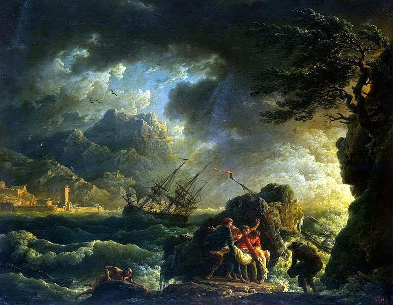 Vernet, Claude Joseph - Shipwreck (2). Hermitage ~ part 03