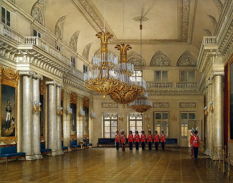 Hau Edward Petrovich - Types of rooms of the Winter Palace. Great Hall of Field Marshals. Hermitage ~ part 03