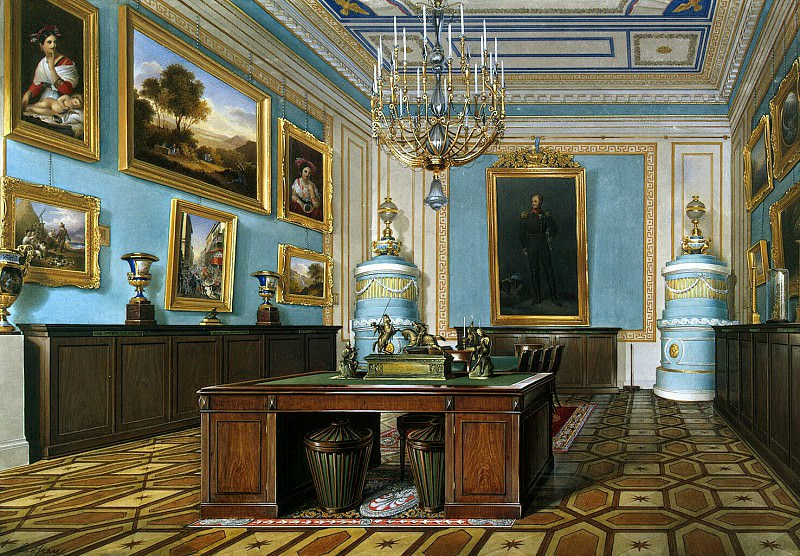Hau Edward Petrovich - Types of rooms of the Winter Palace. Council Chamber of the Emperor Alexander I. Hermitage ~ part 03
