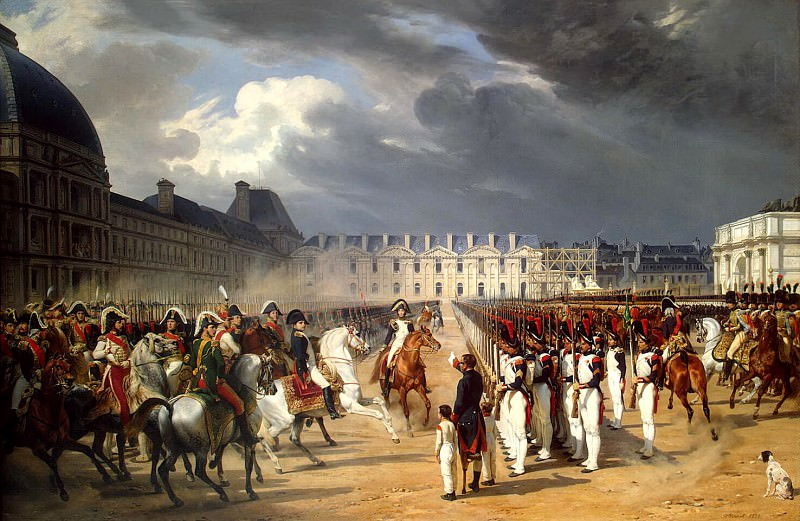 Vernet, Horace - A disabled person who has filed a petition to Napoleon at the Guards parade in front of the Tuileries Palace in Paris. Hermitage ~ part 03