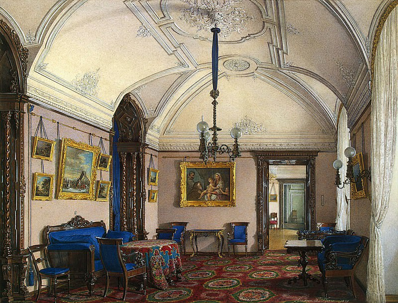 Hau Edward Petrovich - Types of rooms of the Winter Palace. Fourth spare half. Cabinet. Hermitage ~ part 03