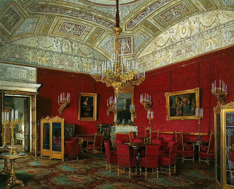 Hau Edward Petrovich - Types of rooms of the Winter Palace. Large living room of the Empress Alexandra Feodorovna (2). Hermitage ~ part 03