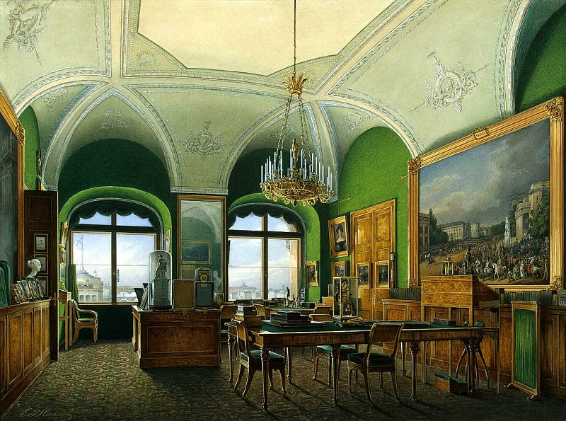 Hau Edward Petrovich - Types of rooms of the Winter Palace. Large Area of Emperor Nicholas I. Hermitage ~ part 03
