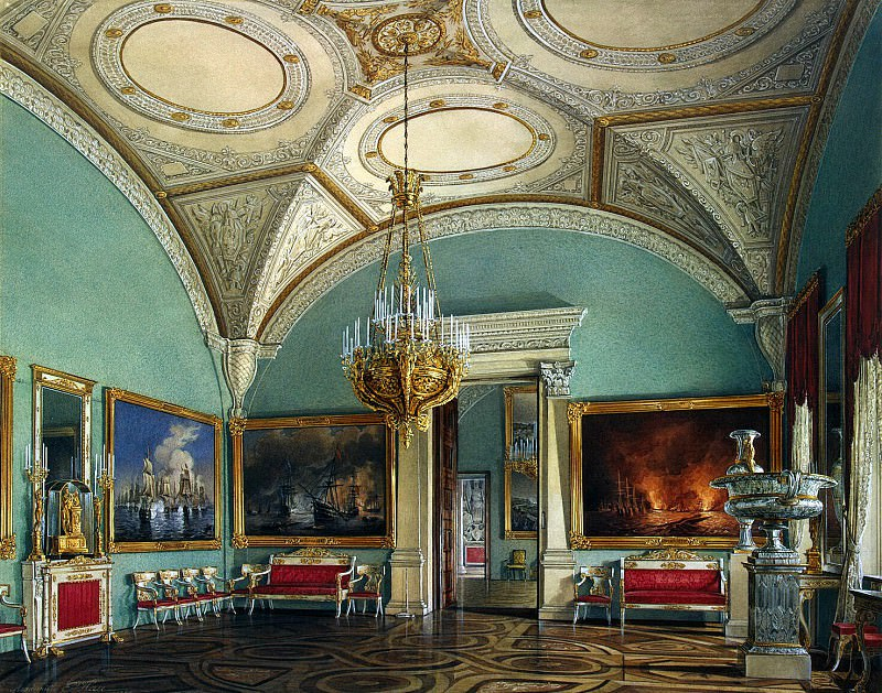 Hau Edward Petrovich - Types of rooms of the Winter Palace. Fourth Meeting of the Military Gallery. Hermitage ~ part 03