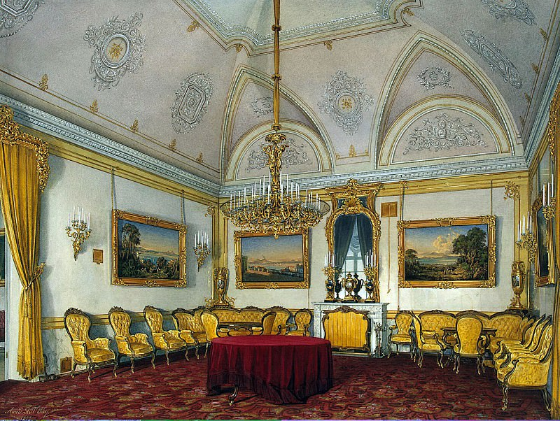 Hau Edward Petrovich - Types of rooms of the Winter Palace. Third spare half. Lounge. Hermitage ~ part 03