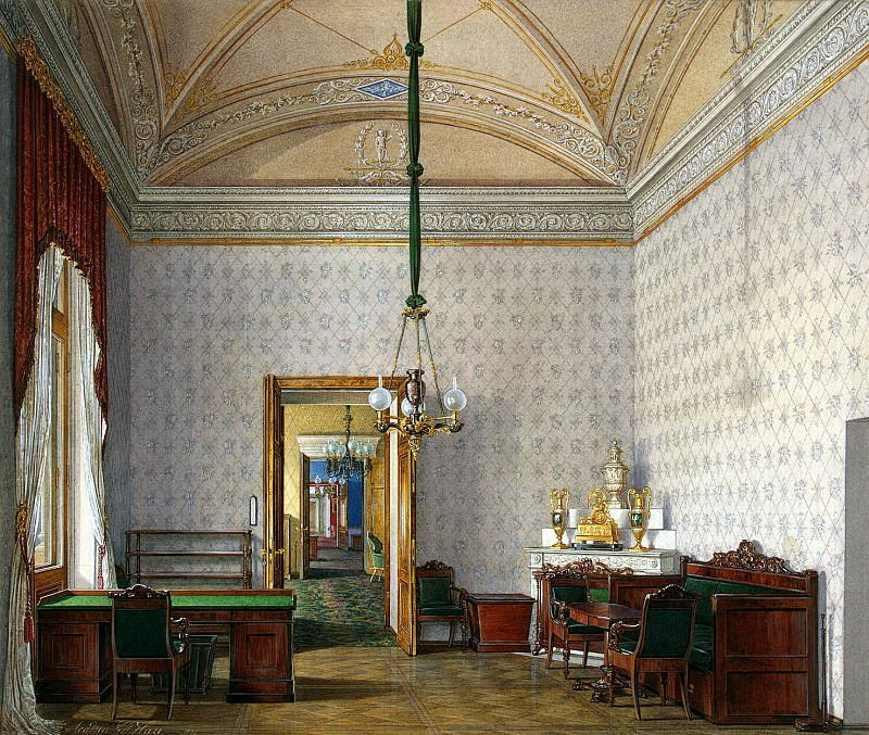 Hau Edward Petrovich - Types halls of the Winter Palace. Classroom in the second half of the spare palace. Hermitage ~ part 03