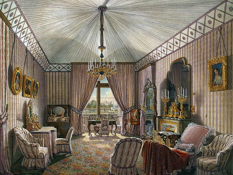 Hau Edward Petrovich - Types of rooms of the Winter Palace. Fourth spare half. Dressing. Hermitage ~ part 03