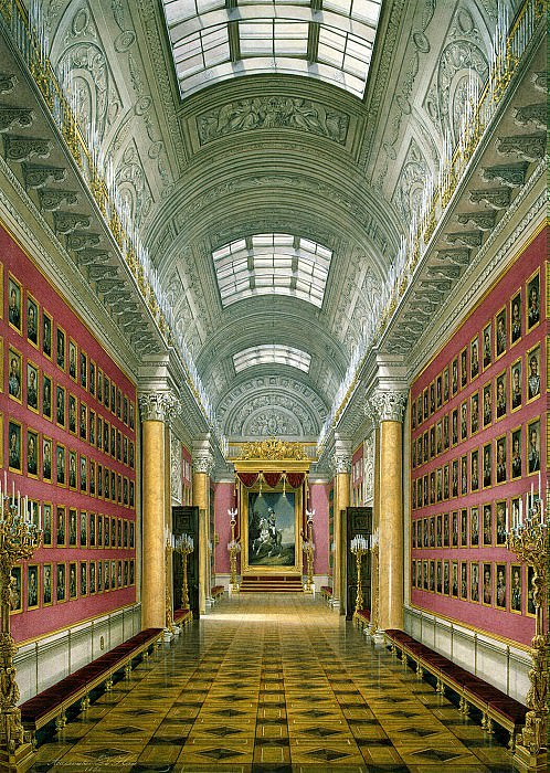 Hau Edward Petrovich - Types of rooms of the Winter Palace. Military Gallery of 1812. Hermitage ~ part 03