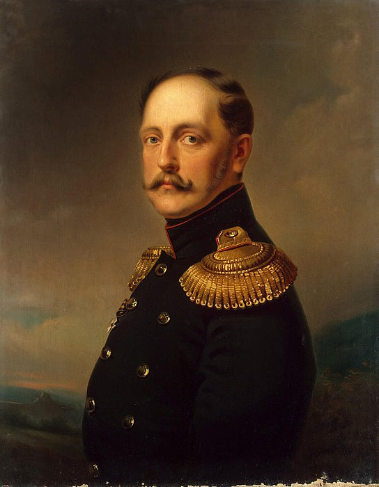 Vernet, Horace - Portrait of Emperor Nicholas I. Hermitage ~ part 03