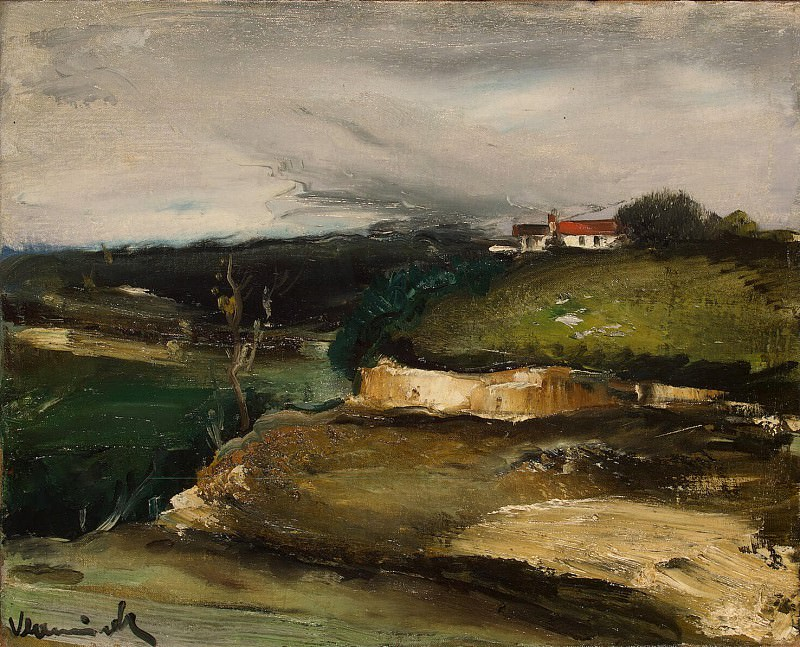 Vlaminck, Maurice de - Landscape with a house on the hill. Hermitage ~ part 03