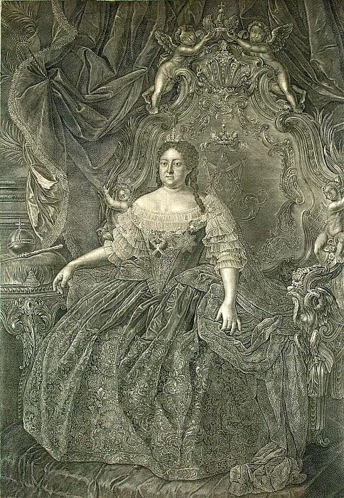Wortman, Christian Albrecht - Portrait Empress Anna Ivanovna. Hermitage ~ part 03
