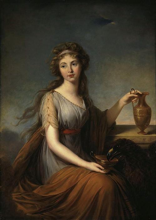 Виже-Лебрен, Элизабет-Луиз - Портрет Анны Питт в виде Гебы. Эрмитаж ~ часть 3