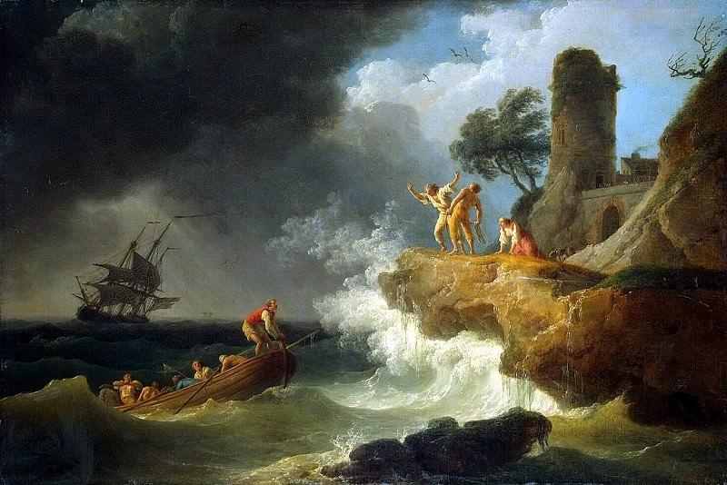 Vernet, Claude Joseph - Storm at the rocky shore. Hermitage ~ part 03