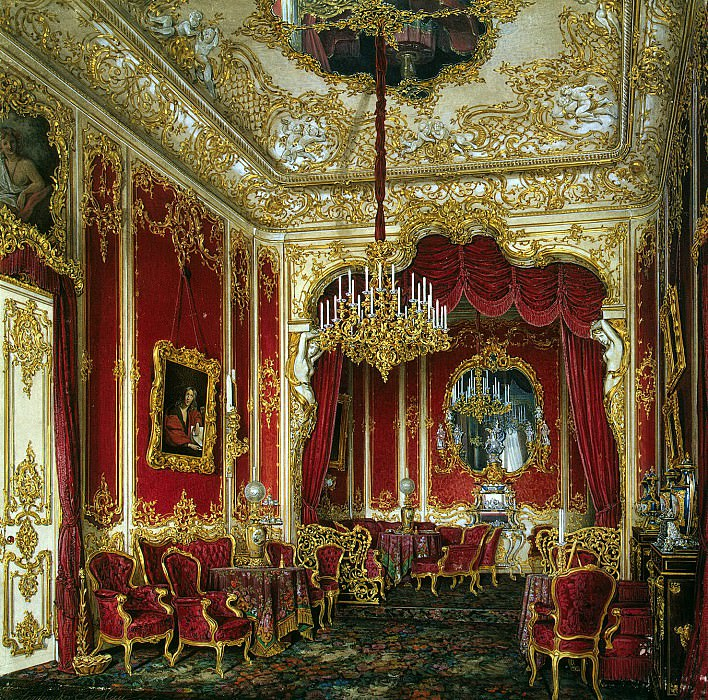 Hau Edward Petrovich - Types of rooms of the Winter Palace. Boudoir of Empress Maria Alexandrovna. Hermitage ~ part 03