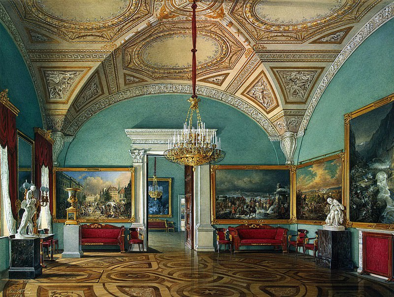 Hau Edward Petrovich - Types of rooms of the Winter Palace. The second hall of the Military Gallery. Hermitage ~ part 03