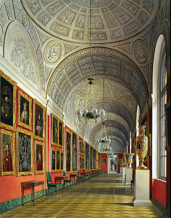 Hau Edward Petrovich - Types halls of the Small Hermitage. Romanov Gallery. Hermitage ~ part 03