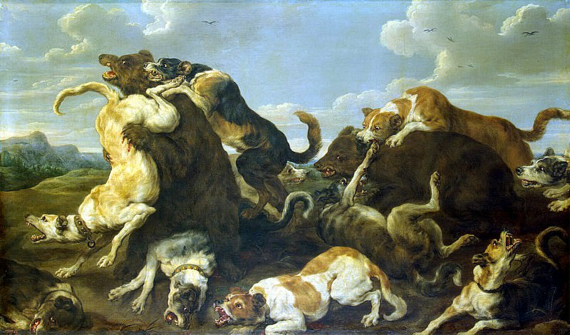Sun, Pauvel de - Hunting bears. Hermitage ~ part 03