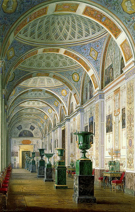 Hau Edward Petrovich - Types halls of the New Hermitage. Gallery of the History of Ancient Painting. Hermitage ~ part 03