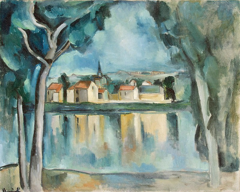 Vlaminck, Maurice de - Town on the shore of Lake. Hermitage ~ part 03