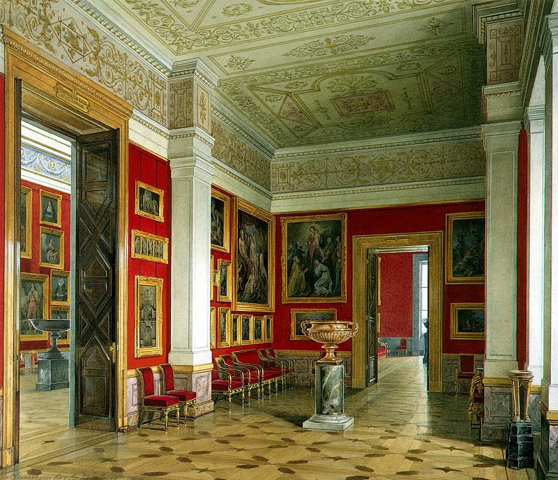 Hau Edward Petrovich - Types halls of the New Hermitage. Cabinet of the Flemish school. Hermitage ~ part 03