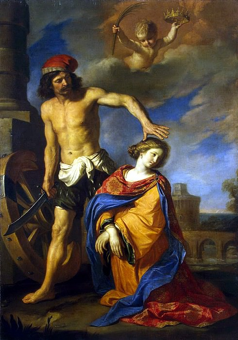 Guercino - Martyrdom of St. Catherine. Hermitage ~ part 03